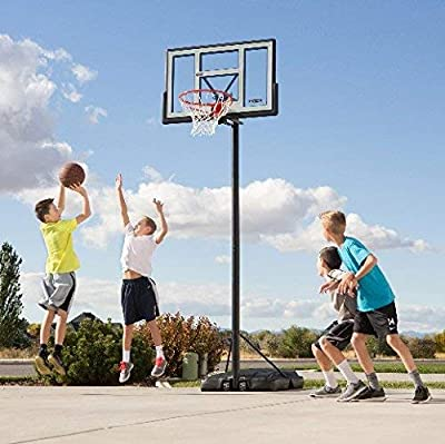 Lifetime 90584 Portable Basketball System, 46 Inch Shatterproof Backboard