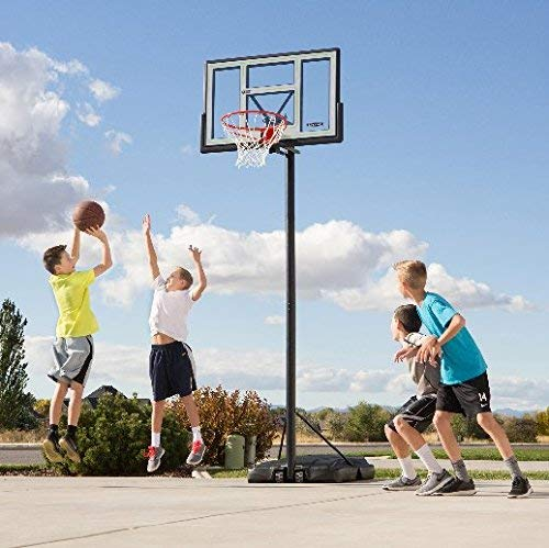 Lifetime 90584 Portable Basketball System, 46 Inch Shatterproof Backboard