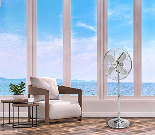 ARGO Palladium Ventilatore a Piantana, 230 V, Argento