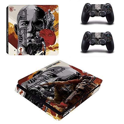 WANGPENG Ghost Recon Wildlands Ps4 Slim Skin Aufkleber Aufkleber für Playstation 4 Konsole und Controller Ps4 Slim Skins Aufkleber Vinyl