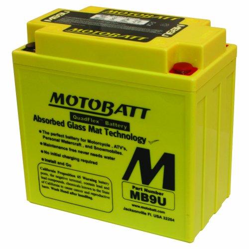 MotoBatt MB9U (12V 11 Amp) 140CCA Factory Activated QuadFlex AGM Battery