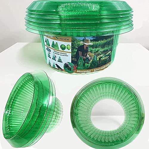 VDYXEW 10Stücke Schneckenkragen, Schneckenschutz, zur Abwehr von Schnecken, Schneckenschutz ohne Chemikalien Schneckenschutzring,Grün.