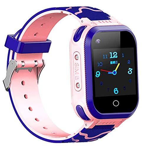 LNLJ Kids GPS Smart Watch, GPS Tracker Childrens Smartwatch Support SOS Llamada Alarma 2-Way Conversación Mejor Regalo para Niñas Niños Niños,Rosado