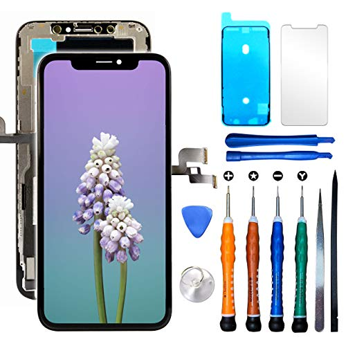 Ace Tech Hard OLED Screen Replacement Compatible with iPhone Xs 5.8 inch (Model A1920, A2097, A2098, A2100) Touch Screen Display Digitizer Repair Kit Assembly with Repair Tools