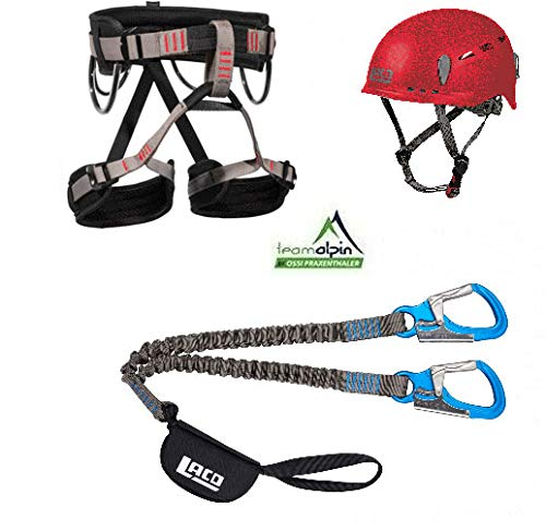 LACD Klettersteigset Via Ferrata Pro Evo 2.0 Start Gurt Protector 2.0 rot (L)