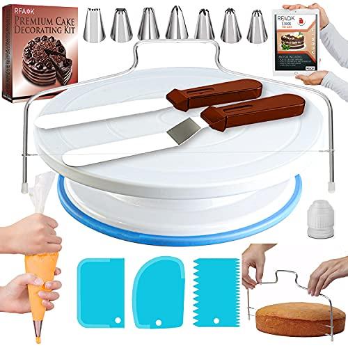 RFAQK 35PCs Cake Turntable and Leveler-Rotating Cake Stand