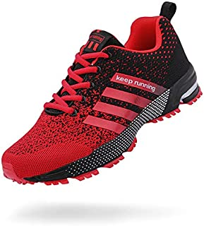Moligin Mens Running Shoes Fashion Sneakers Lace Up for Casual Fitness Walking Jogging Footwear