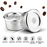 Weehey Stainless Steel Reusable Coffee Capsules Reusable Coffee Capsule Cup Filter Compatible with Delta Q