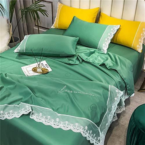 Holel Duvet 1.5-deurs – wasbare microvezel quilt met witte kant anti-acarian lichtgewicht polyester bed-toevoeging voor slaapbank deken werp 017