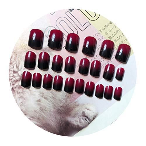 WEDF24 Teile/satz Farbverlauf Kurze Full Cover Gefälschte Falsche Künstliche Fingernagelspitzen