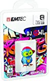 Emtec Animalitos 2.0 USB Flash Drive, 8GB, DJ Owl, ECMMD8GM341