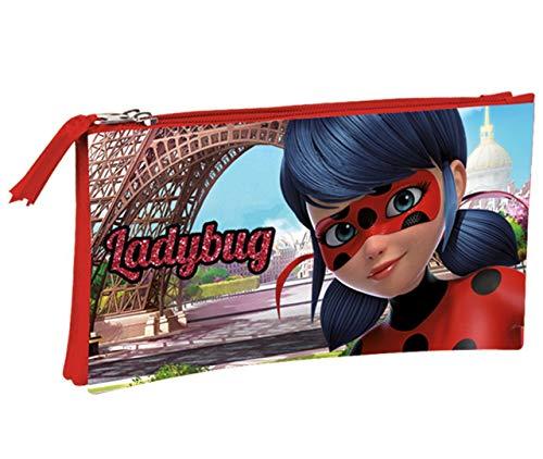 Montichelvo Ladybug Amour - Estuche portatodo Triple (Perona 55921)
