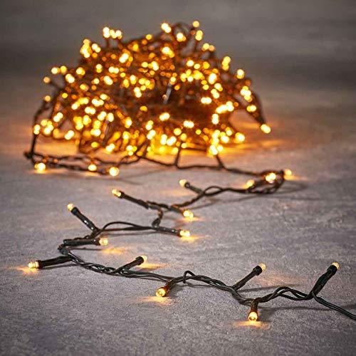 Luca Lighting Lichterkette 720 LED Lichter extra warm weiß 5400 cm - auch für außen - mit Timer - Weihnachtsbeleuchtung - Partybeleuchtung