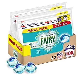 Fairy Non-Bio Pods, Washing Liquid Laundry Detergent Tablets/Capsules, 108 Washes (54 x 2) (B08DGPKWWR) | Amazon price tracker / tracking, Amazon price history charts, Amazon price watches, Amazon price drop alerts