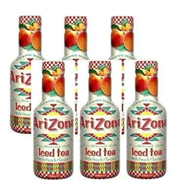Arizona Peach Iced Tea 500 ml (Pack of 6)