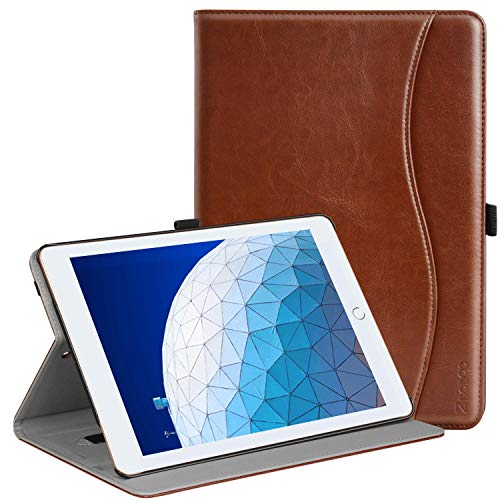 Ztotop Case for iPad Air 10.5' (3rd Gen) 2019/iPad Pro 10.5' 2017, Premium Leather Business Slim Folding Stand Folio Cover for New iPad Tablet with Auto Wake/Sleep, Multiple Viewing Angles, Brown