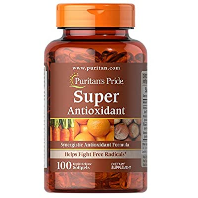Puritan's Pride Formula, Softgels by Super Antioxidant 100 Count (Pack of 1)