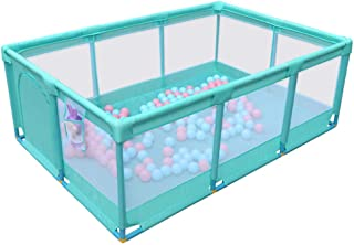 """Portable Baby Playpen 14 Panel Activity Center Safety Playard with Anti-Slip Base Fence Indoor Outdoor for Children 74.8""""×..."""