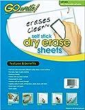 GoWrite! PACASB8511 Self-Adhesive Dry Erase Sheets, White, 8-1/2' x 11', 30 Sheets