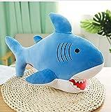 Nette Hai Plüschpuppe Spaß warmes Handkissen weiches bequemes Stofftier Winter muss Haushaltswaren für Kinder Kind 47Cm