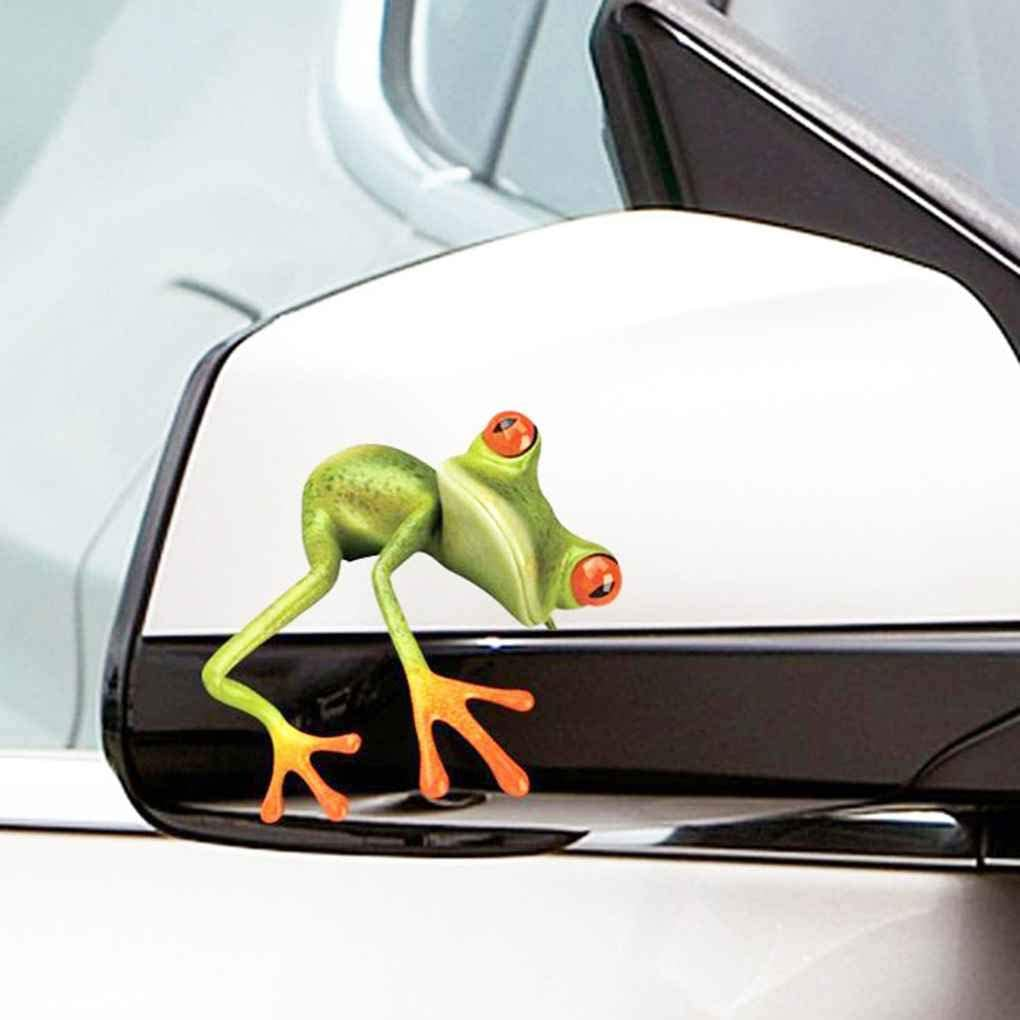 Patpan Universal Auto Aufkleber 3d Blick Frosch Lustiger Auto Aufkleber Lkw Stereo Frosch Fenster Abziehbild Verpackungs Dekor Küche Haushalt