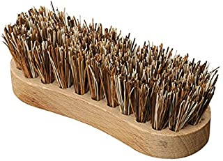 Redecker Union Fiber Scrub Brush with Untreated Beechwood Handle, 4-3/4-Inches