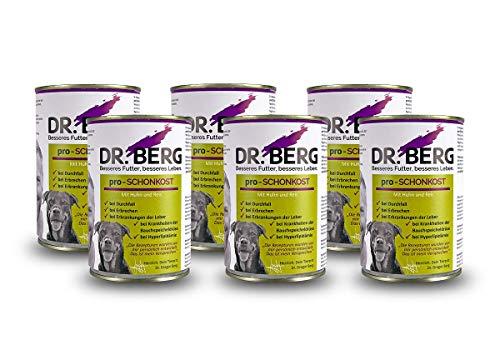 Dr. Berg pro-SCHONKOST Nassfutter für Hunde: Diätfutter bei Magen-Darm-Problemen & Durchfall (6 x 400 g)