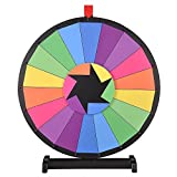 WinSpin® 24' Tabletop Editable Color Prize Wheel 18 Slot Spinning Game with Dry Erase Tradeshow Carnival