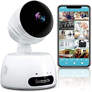 SereneLife Indoor Wireless IP Camera - HD 720p Network Security Surveillance Home Monitoring w/Motion Detection, Night Vis...