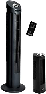 Seville Classics UltraSlimline Tower Fan Combo Pack, Black