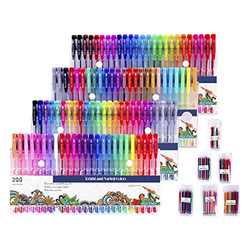 Juego de dibujo profesional todo tipo de colores brillantes Herramientas de dibujo para niños Regalos y suministros de arte Neutral Color Plumas Goma Borrador para el arte
