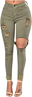 Jeans skinny stretti da donna da juniors Basic elasticizzato strappato pantaloni slim denim
