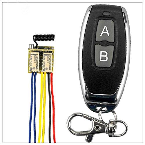lejin Mini rf 2Relé Interruptor 433Receptor Mando a distancia Aprendizaje DC a 24V 842500391emisor Receptor Gate Garaje regulador de luz para alarma