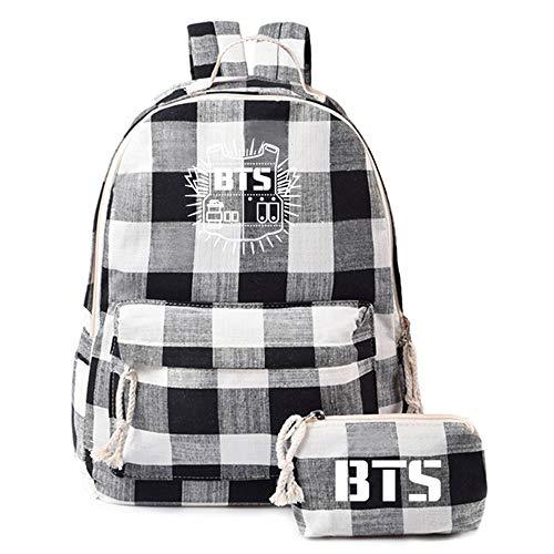 BTS Mochila Student School College Travel Bag Book Bag Mochila para niña V Jung Kook
