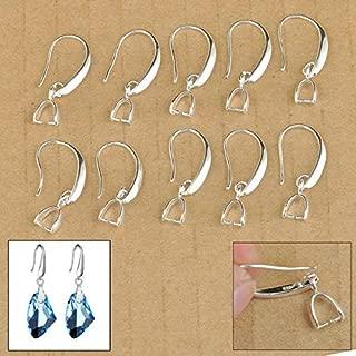 FidgetKute 50X Lot Jewelry Findings Earring Making Bail Pinch Hook Ear Wires for Crystal
