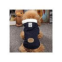 犬用ジャケットチワワ服ペット服ペットTシャツ暖かい冬ファッションかわいい屋内お出かけウォーキング子犬中犬ペット用品青