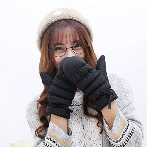 UGGHGHK Winterfrauen Und -Männer Baumwollhandschuhe Windundurchlässige Und wasserdichte Kinderhandschuhe Verdickung Warme Skihandschuhe Frauen Männer