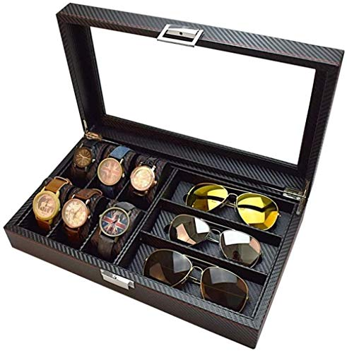 SHANCL Scatole Decorate Occhiali di Caso di Esposizione degli Occhiali da Sole di Sicurezza Cassa dell'organizzatore di immagazzinaggio dei monili della vigilanza di Sicurezza Protector Holder Box