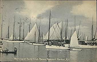Morning of Yacht Club Races, Newport Harbor Newport, Rhode Island Original Vintage Postcard