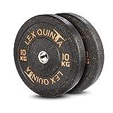 Lex Quinta Blaster Plate orange 2 x 10 Kg - Bumperplates für 50mm Langhanteln