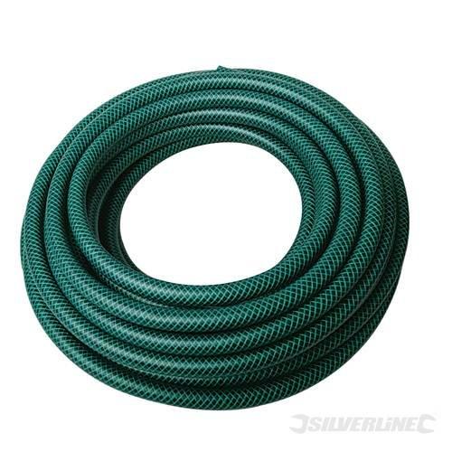 jardinage d'arrosage pour tuyau d'arrosage en PVC renforcé 3 couches 30 m de tuyau d'arrosage en PVC renforcé de fibres de polyester. Construction pour plus de résistance. : Corde à 1/5,1 cm de diamètre en Conformité avec la norme Bs3746.