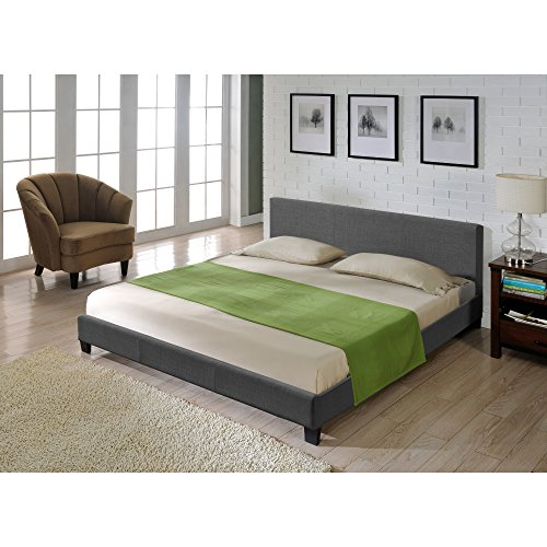 Corium Textil Doppelbett Polsterbett 180x200cm Bettgestell mit Lattenrost Stoff Bett