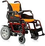 Sillas de ruedas eléctricas para adultos Silla de ruedas eléctrica plegable portátil Cuidado de cuatro ruedas Vespa aleación de aluminio de ancianos discapacitados con silla de ruedas desmontable de l