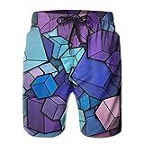 Fondo de Arte Bonito Fondo de Pantalla Imprimir Pantalones Cortos Casuales para Hombres Bañador Bañadores Ropa de Playa Trajes de baño Pantalones Cortos de Golf M