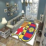 LGXINGLIyidian Alfombra Equipo Creativo De Fútbol De Barcelona Alfombra Suave Antideslizante De Decoración del Hogar De Impresión 3D 160X230Cm