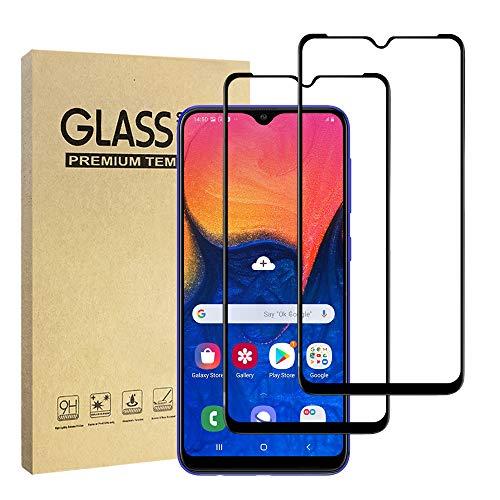 Hianjoo Kompatibel für Samsung Galaxy A10 Schutzfolie [2-Stück], [Volle Bedeckung] Displayschutzfolie Panzerglas Kompatibel für Samsung Galaxy A10, Anti-Kratzer, Bläschenfrei, 9H Härte, HD-Klar