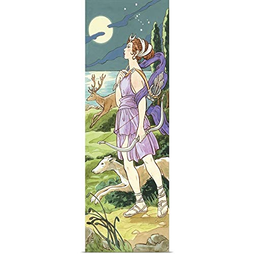 GREATBIGCANVAS Artemis (Greek), Diana (Roman), Fine Art Poster Print, Mythology Home Decor Artwork, 12'x36'