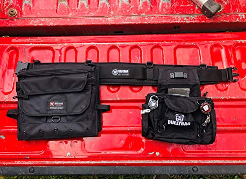 Adjuster Tools Belt/Project Manager/Roof Sales/Estimator/Home Inspectors - Custom Tool Belt System by BullyBag includes Belt, Ultra Pouch w Retainers and SideScribe for clipboard & laptop