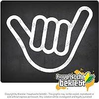 Kiwistar 重い手 Heavy hand 13cm x 10cm 15色 - ネオン+クロム! ステッカービニールオートバイ