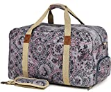 ★Heavy duty duffle bag, sturdiness cotton canvas, adjustable padded shoulder straps, thick bottom make it have shape ★Attractive overnight bags for women, unique individual pattern, combine traditional and vintage elements, chic and timeless ★Women c...